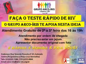 TESTE RÁPIDO DE HIV FLYER NOVO DE DIVULGAÇÃO