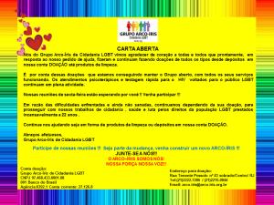 Flyer Carta Aberta