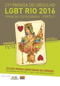 Cartaz da 21ª Parada do Orgulho LGBT Rio 2016