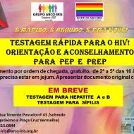 TESTE RÁPIDO DE HIV FLYER NOVO DE DIVULGAÇÃO EM PNG